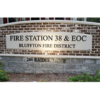 Fire Station 38 is operational in Bluffton, SC with a few notable features.